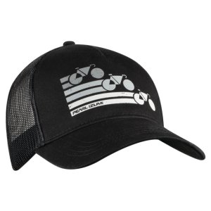 PEARL iZUMi Recycled Trucker Hat bike stripe black