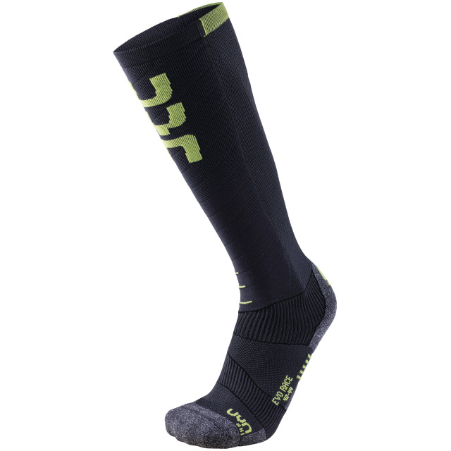 UYN Man Ski Evo Race Socks anthracite / green lime
