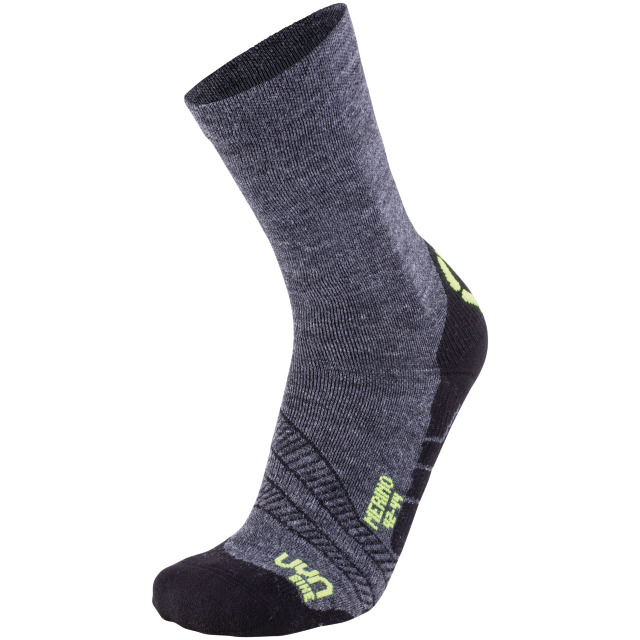 UYN Man Cycling Merino Socks anthracite / yellow fluo