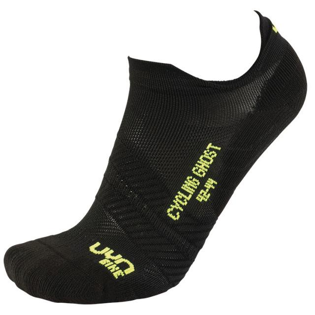 UYN Man Cycling Ghost Socks black / yellow fluo