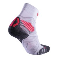 UYN Lady Run Trail Challenge Socks white / coral fluo