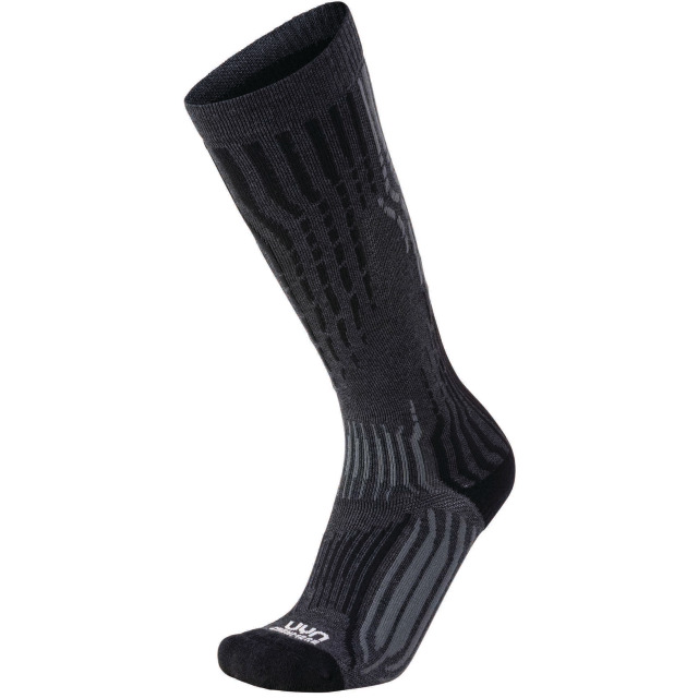 UYN Man Ski Cashmere Socks Grey Rock / Black