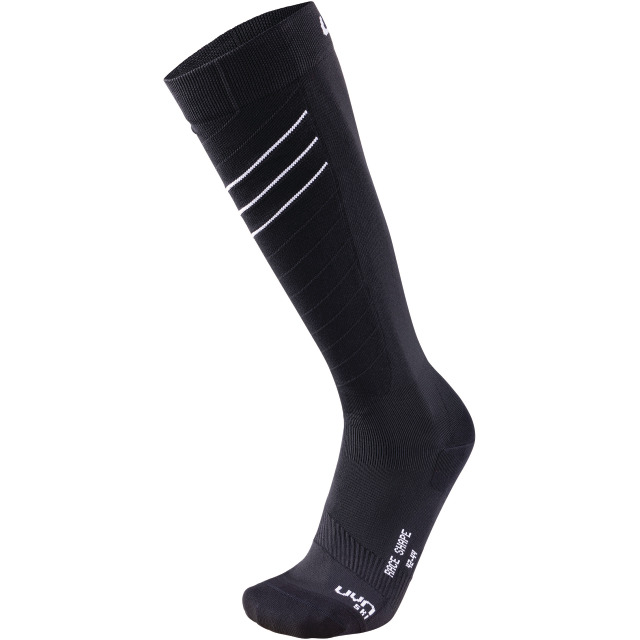 UYN Man Ski Race Shape Socks black / white